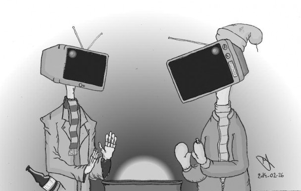 Sotchi, Marceau et la télévision