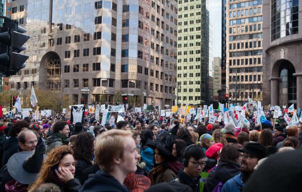 Manifestation pour la hausse du salaire minimum