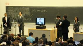 Le premier débat des candidats à la direction du PQ se tient à l'UdeM