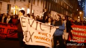 Des étudiants londoniens en grève de loyers