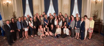 Hockey féminin: Les Carabins honorés à l'Assemblée nationale