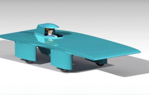 Une voiture à l'énergie solaire