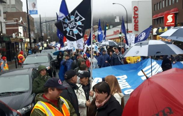 Marche pour un salaire minimum à 15$