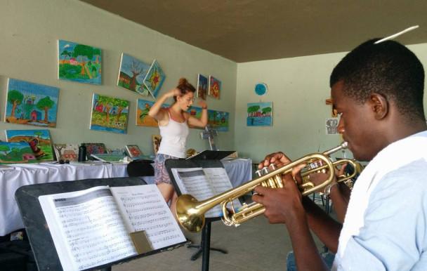 Des musiciens à Haïti