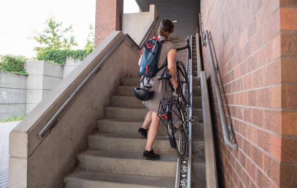 Une meilleure mobilité pour les vélos sur le campus