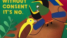 Des oiseaux tropicaux pour faire campagne contre les violences sexuelles