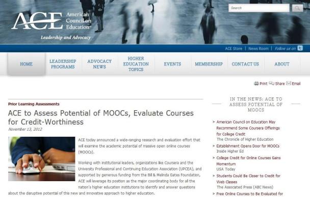 Les cours en ligne gratuits bientôt crédités?