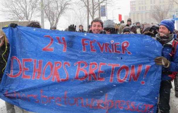 Manifestation contre Guy Breton