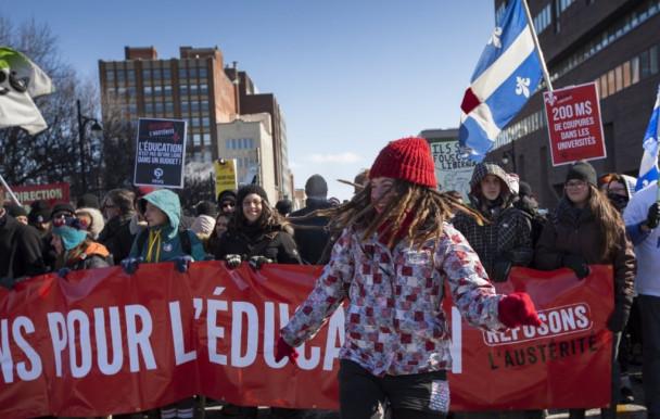 La FEUQ marche contre l'austérité