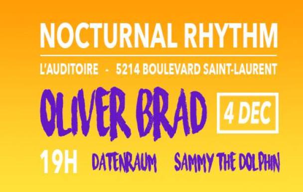 Oliver Brad et le collectif Electro'Nuit à la soirée Nocturnal Rhythm