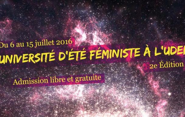 Deuxième édition pour l'université féministe de l'UdeM