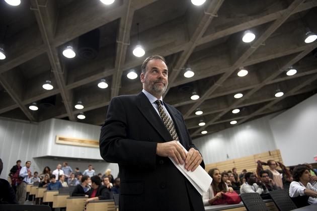Pierre Duchesne lors d'une conférence à l'UdeM le 3 octobre dernier. (Crédit photo : Pascal Dumont)