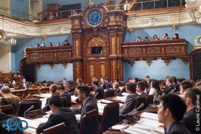 Les débats se déroulent à l'Assemblée nationale du Québec (Photo : 65ème législation - Crédit photo : courtoisies PJQ)