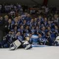 Grâce à leur victoire en finale provinciale, les Carabins sont assurées de finir au moins en  deuxième place au classement canadien. Crédit: Sarah Bouchaïb