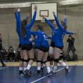 L'équipe féminine de volleyball n'est qu'à une victoire d'être couronnée champione provinciale pour une deuxième année consécutive. Crédit: Sarah Bouchaïb