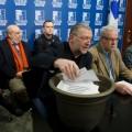 Le coordonnateur de la Table des partenaires universitaires, Sylvain Marois, lors d'une conférence de presse tenue le 18 février dernier. Courtoisie FNEEQ-CSN