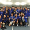 Les deux équipes de tennis de l'UdeM ont vaincu, tour à tour, le Vert et Or de l'Université Sherbrooke en demi-finale et les Martlets de l'Université McGill en finale québécoise. Crédit: Courtoisie Carabins