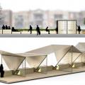 """Projet intitulé """"Stations – Système urbain modulable"""" des étudiants en design industriel René Vu et Étienne Vernier. Photo : courtoisie Faculté de l'Aménagement."""