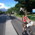 Doubles sens cyclables aux abords du campus de la montagne, chemin de la Côte-Sainte-Catherine. Photo : Flickr/BikeTexas.