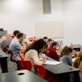 Camp de formation à Polytechnique Montréal, une journée de conférences sur le développement durable, la mobilisation, le financement des universités et la gestion des médias sociaux. Courtoisie : Steve St-Pierre
