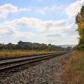 Le chemin de fer du Canadien Pacifique sépare Outremont et Parc-Extension à la hauteur du site du futur campus Outremont. Crédit photo : Mathieu Gauvin