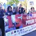 Des manifestants lors de la mobilisation du 15 octobre dernier organisée par la Campagne 5-10-15. Crédit photo : Courtoisie Campagne 5-10-15.