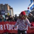 Manifestation «Marchons pour l'éducation »contre l'austérité organisée par la Fédération des étudiants universitaires du Québec (FEUQ), le 28 février 2015/Archive Quartier Libre, Isabelle Bergeron