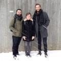 Les étudiants à la maîtrise en architecture, Patrick Pedneault , Andrée-Anne Caron-Boisvert et  Maxime Hurtubise.  Courtoisie Patrick Pedneault