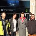 De gauche à droite, la délégation de l'ETS lors de la compétition de l'an passé  avec Félix Cloutier, Alex Bouffard Benoit Côté-Jodoin, et Israel Hallé. Photo: Courtoisie DCIETS.
