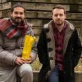 Les gagnants de la charrette de la FAÉCUM et étudiants en architecture de paysage Wissam Dib et Maxime Girard. Crédit photo : Mathieu Gauvin.