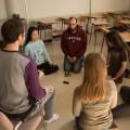 Des ateliers de méditation pleine conscience sont offerts les lundis et mercredis midi sur le campus de l'UdeM par SOI – le salon Zen. Crédit photo : Mathieu Gauvin.