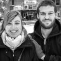 Les étudiants au baccalauréat en cinéma Jeanne Michel et Laurent Nauleau. Crédit photo : Mathieu Gauvin