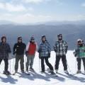 Un groupe de membres du CSSUM lors d'un voyage de glisse au mont Whiteface, dans l'état de New York, en 2015. Crédit photo : Mathieu Gauvin.
