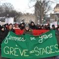 Les quelques 25 000 étudiants membres des Comités unitaires sur le travail étudiant ont été invités à la manifestation du 16 février dernier à Québec. (Crédits: Courtoisie Jean-Philippe Thuot, CUTE)