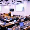 La 584e séance de l'Assemblée universitaire, où ont été débattues les modifications à la Charte, s'est déroulée les lundis 23 janvier, 30 janvier et 6 février 2017. Crédit photo : Félix Lacerte-Gauthier.