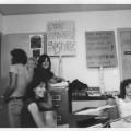 Des militants pour l'autogestion du Café Campus dans leur local à la fin des années 1970. Crédit photo : Courtoisie Café Campus.