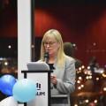 La directrice du Département de gestion, d'évaluation et de politique en santé, Nicole Leduc, lors de la soirée anniversaire du 9 février. Crédit photo : Étienne Galarneau.