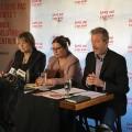 La conférence de presse pour lancer la campagne « Commande un Angelot », une des politiques mises en place pour lutter contre les violences sexuelles et soutenue par la ministre de l'Enseignement supérieur, Hélène David. Crédit photo : Julien Tardif
