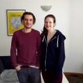 Valentin Verrier et Stéphanie Demers-Hébert dans les bureaux de Welcome Aboard. Courtoisie Mirna Djukic