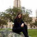 La finaliste de Ma thèse en 180 secondes, Catherine Girard. | Photo : courtoisie Catherine Girard