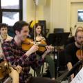 L'Atelier de musique contemporaine de l'UdeM est un ensemble à géométrie variable. Crédit photo: Marie Isabelle Rochon.