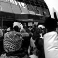 Des étudiants pharmaciens de l'UdeM lors d'une marche pour réclamer le retour de leurs stages le 19 mars dernier. Crédit photo : Julien Tardif