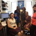 Les membres de l'équipe PRDH du Projet 1831 (FCI) lors de la session d'été 2016. (Photo: Courtoisie Lisa Y. Dillon)