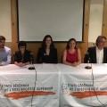 Des représentants de l'UEQ ont participé à la conférence de presse inaugurale des ÉGES, le 18 mai dernier. (Photo: Facebook.com | Union étudiante du Québec - UEQ)