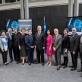 Des représentants de l'IVADO, de l'UdeM et du gouvernement du Québec étaient réunis lors de la présentation du projet le 15 mai dernier. (Photo: Amélie Philibert)