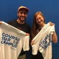 Les deux coorganisateurs de la course du campus, Kevin L'espérance  et  Audrey Collerette (Photo: Courtoisie de Audrey Collerette)