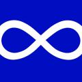 Le drapeau Métis, utilisé depuis le XIXe siècle. (Photo: Domaine public)
