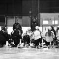 L'équipe de hockey féminin des Carabins à l'entraînement au CEPSUM. (Photo: Félix Lacerte-Gauthier)