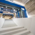 Vue de l'intérieur de la rampe rénovée. (Photo : Amélie Philibert, Courtoisie de l'UdeM)