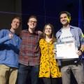 L'équipe Les Cinécures a remporté la deuxième édition du 72h Film Maker. (Photo : Sarah Meira)